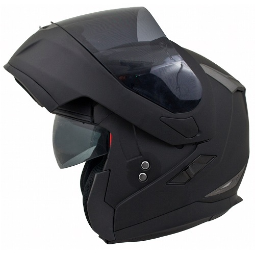 MT Flux Helmet. Flip Front Matt Black