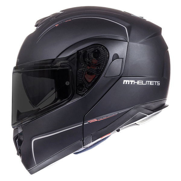 MT Atom Matt Black Flip Helmet