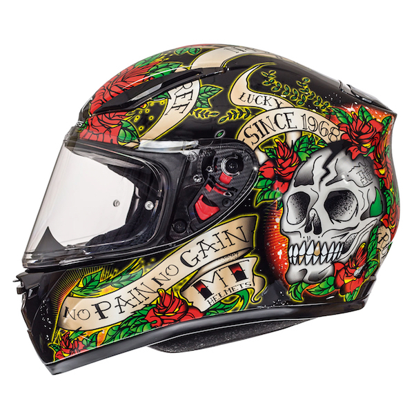 MT Revenge Skull and Roses  5 Star Sharp Approved Black Red