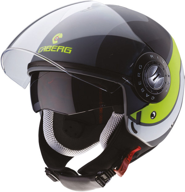 Caberg Riviera V3 Sway Matt Anthracite Black, Yellow Helmet