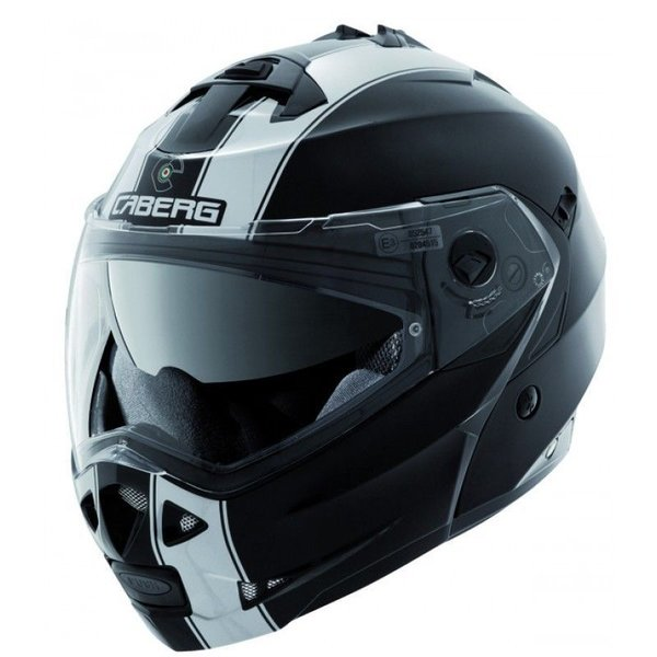 Caberg Duke II Legend Black White Flip Helmet