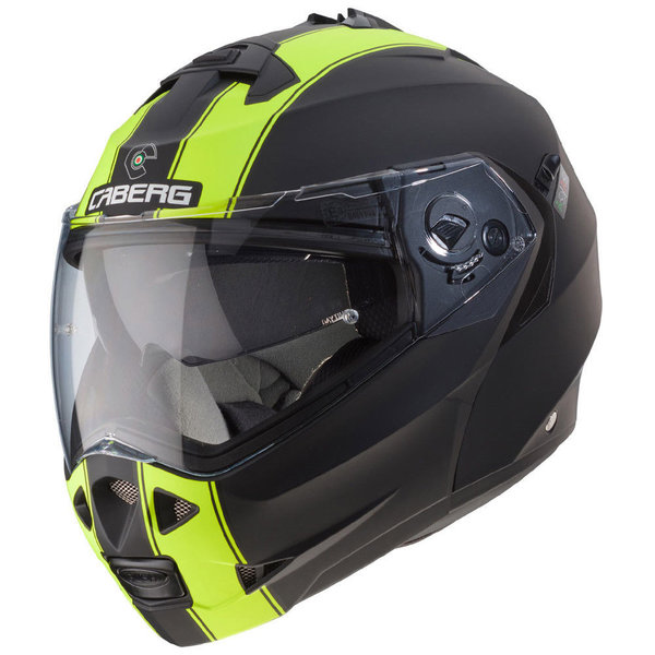 Caberg Duke II Legend Black Yellow Matt Flip Helmet