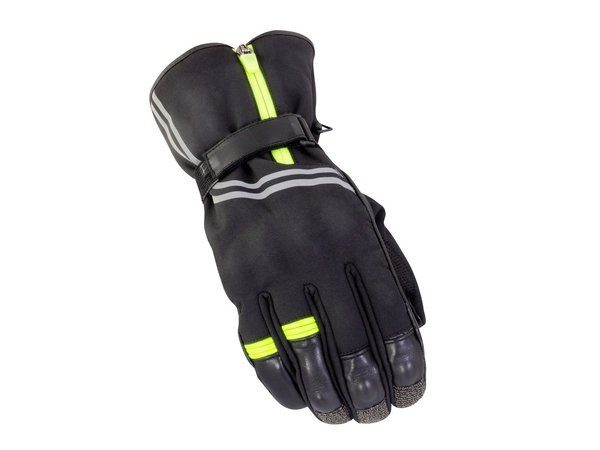 Bike It Guardian Waterproof Winter Gloves Black Neon Yellow