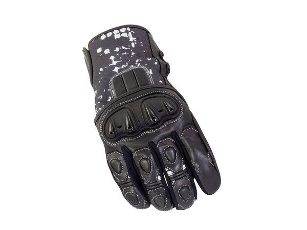 Bike It Revel Short Summer Gloves Black White