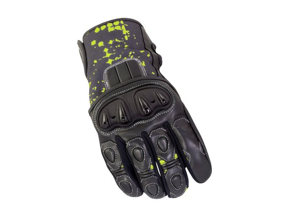 Bike It Revel Short Summer Gloves Black Neon