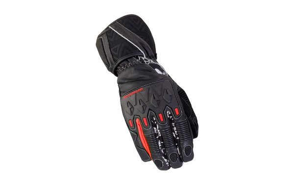 Bike It Mission Waterproof Winter Gloves Black Red