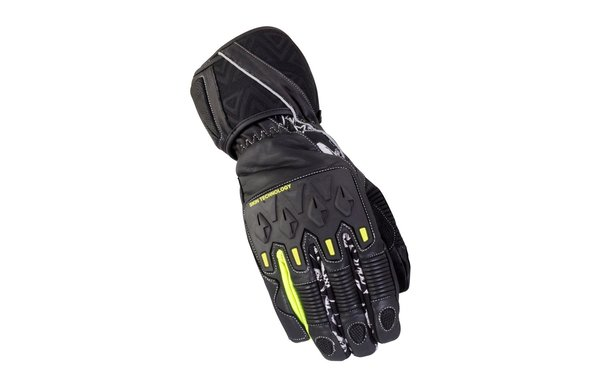 Bike It Mission Waterproof Winter Gloves Black Neon