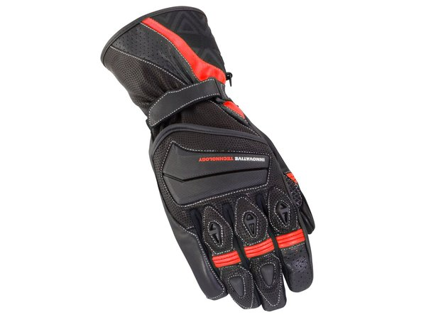 BIKE IT 'SPYDER' SUMMER GLOVE - BLACK/RED