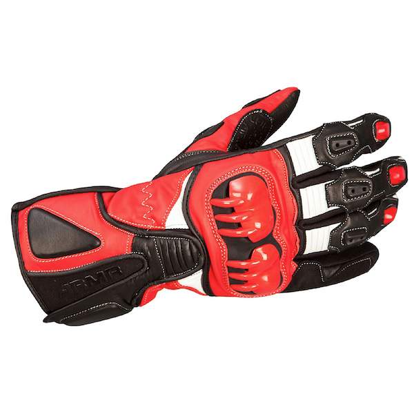 Armr Moto s235 Leather Sports Gloves in Red Blue or Black