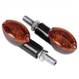 Bike It Mini Cat Eye Indicators With Black Body And Amber Lens