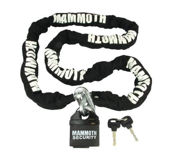Mammoth Security 1.8m chain and lock 10mm